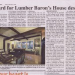 IDEA 2015 award for the design work at the Lumber Baron's House