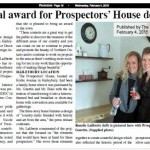 National Design Award for the Prospector's House Project