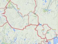 Elk Lake & Earlton Area Map Snowmobile Trails / Carte des sentiers de motoneige de la région de elk Lake et Earlton