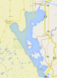 The Temiskaming Quebec side Snowmobile trails map / Carte des sentiers de motoneige de la région du Témiscamingue sur le côté du Qébec
