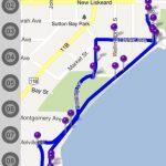 TiC Temiskaming Interactive Circuit map on smartphone / Carte d'un circuit interactifs du Témiskaming sur un téléphone intelligent