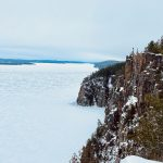 Devil's Rock looking south on lake Temiskaming