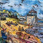 Haileybury Beach, a giclée print by Laura Landers