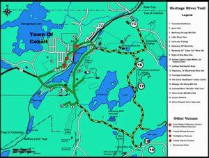 Heritage Silver Trail Map in Cobalt. A great activity for your group while visiting the Temiskaming region. / La carte de la tournée Heritage Silver Trail à Cobalt. Une activité intéressante lors de votre visite dans la région du Témiskaming.