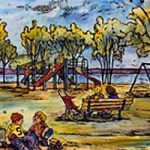 New Liskeard Playground - Giclée print by Laura Landers
