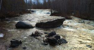 Water stream at Pete's Dam Park close to New Liskeard / Cours d'eau au parc Pete's Dam près de Temiskaming Shores.
