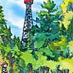 Temagami Fire Tower Hiking Trail - A giclée print by Laura Landers
