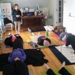 wellness travel - Yoga session at the Lumber Baron's House / Session de yoga à la Maison des barons forestiers