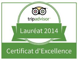 The Presidents' Suites receives the Trip Advisor 2014 Certificate of Excellence recognition 8 Les Suites des Présidents obtiennent la reconnaissance certificat d'excellence 2014 de Trip Advisor