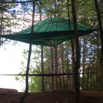 Treehouse Glamping on Farr Island on Lake Temiskaming with a Tentsile Stingray tent