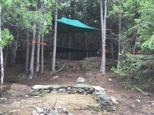 Treehouse glamping site on Farr Island on Lake Temiskaming