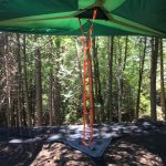 Ladder to access your Tentsile on Farr Island on Lake Temiskaming