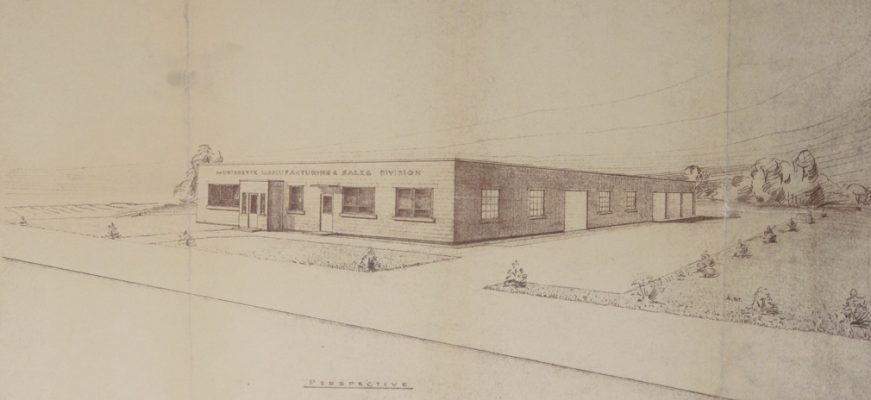 The original 1956 Morissette Manufacturing facility in Haileybury.