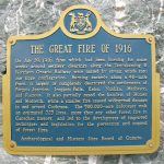 The Matheson The Matheson Great Fire of 1916 plaque