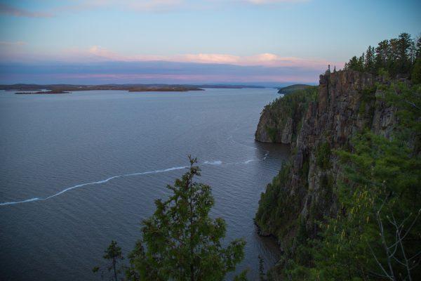 Devi's Rock View over Lake Temiskaming