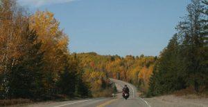 Motorcycle fall colour tour around Lake Temiskaming