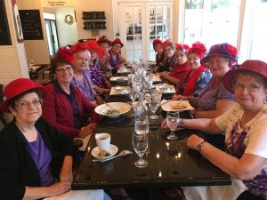 Red Hat Society at Cafe Meteor Bistro