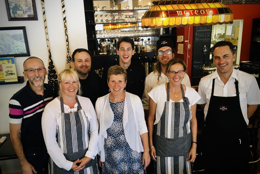 The team at Cafe Meteor Bistro August 2019