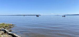 Fishing boats around Farr Island