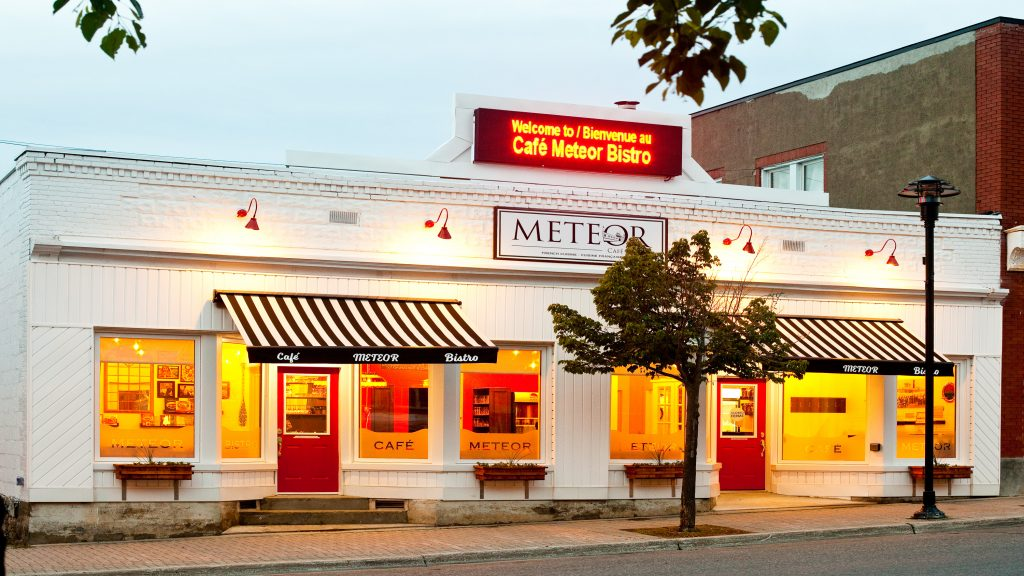 Café Meteor Bistro is located downtown Haileybury only a few minutes away from the President's Suites historical homes.