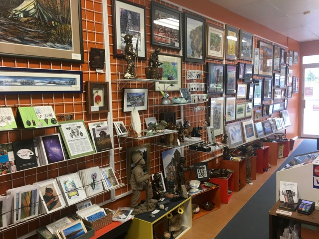Inside view of Laura's Art Shoppe located downtown Cobalt