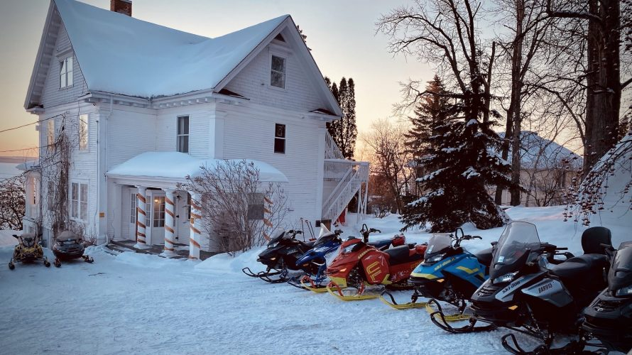 Snowmobile Motorcycle holiday group
