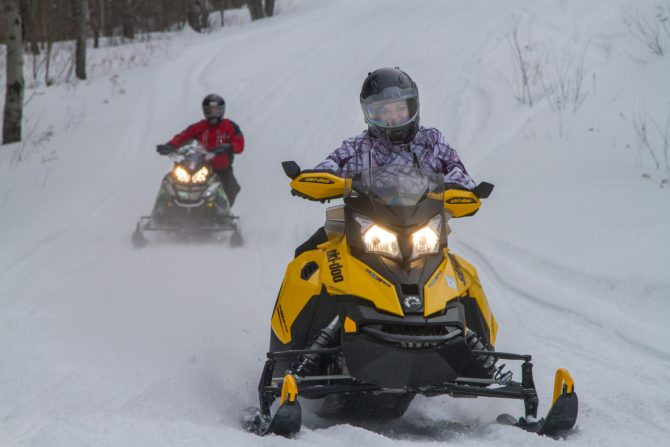 Snowmobile Motorcycle Holiday