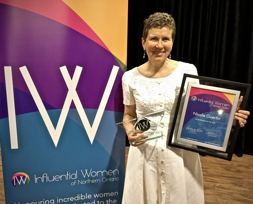 Influential Women of Northern Ontario Entrepreneur of the Year award for Nicole Guertin. Learn more about us.