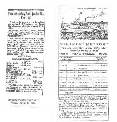 Constructing S.S. Meteor originally La Minerve