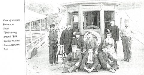 Meteor crew around 1894