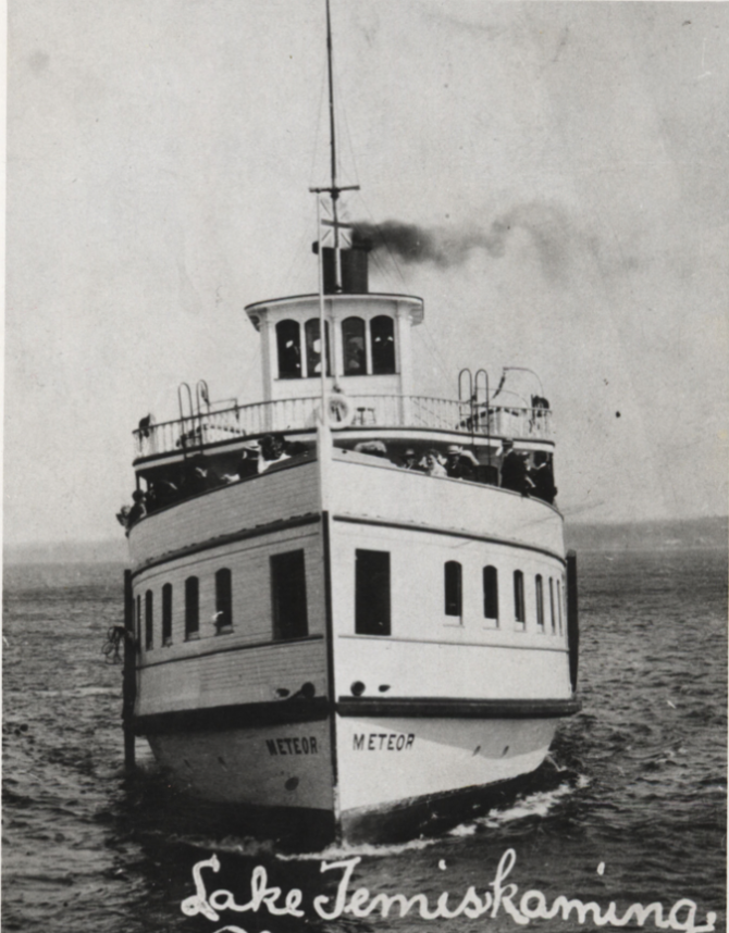 S.S. Meteor on Lake Temiskaming