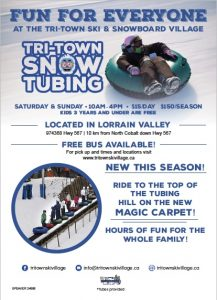 Tubing at the tri-town ski and snowboard village