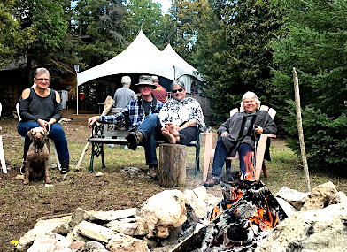 Glamping activity ideas - time by the firepit