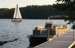 Farr island glamping on lake Temiskaming