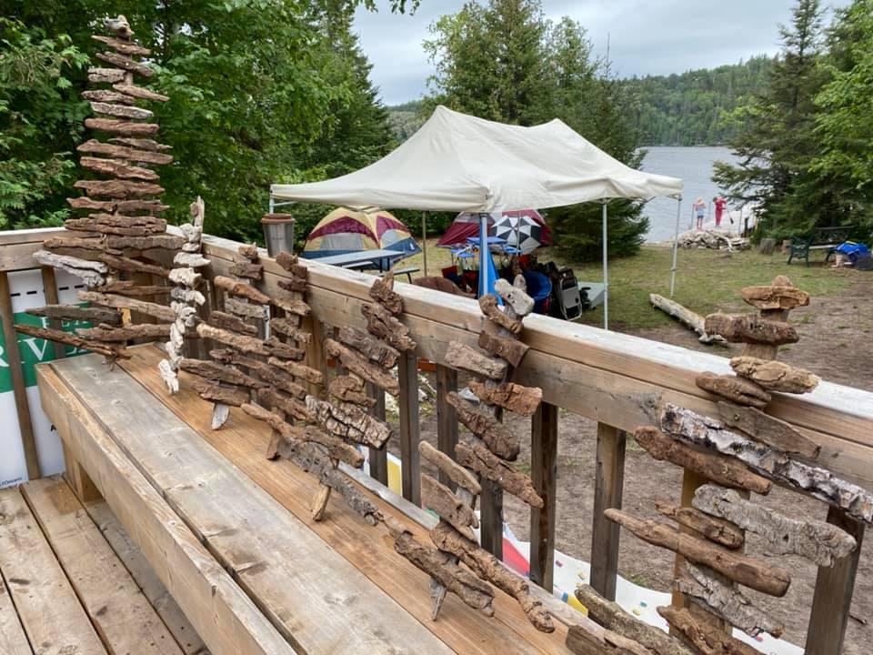 Build your drift wood sculpture on Farr Island
