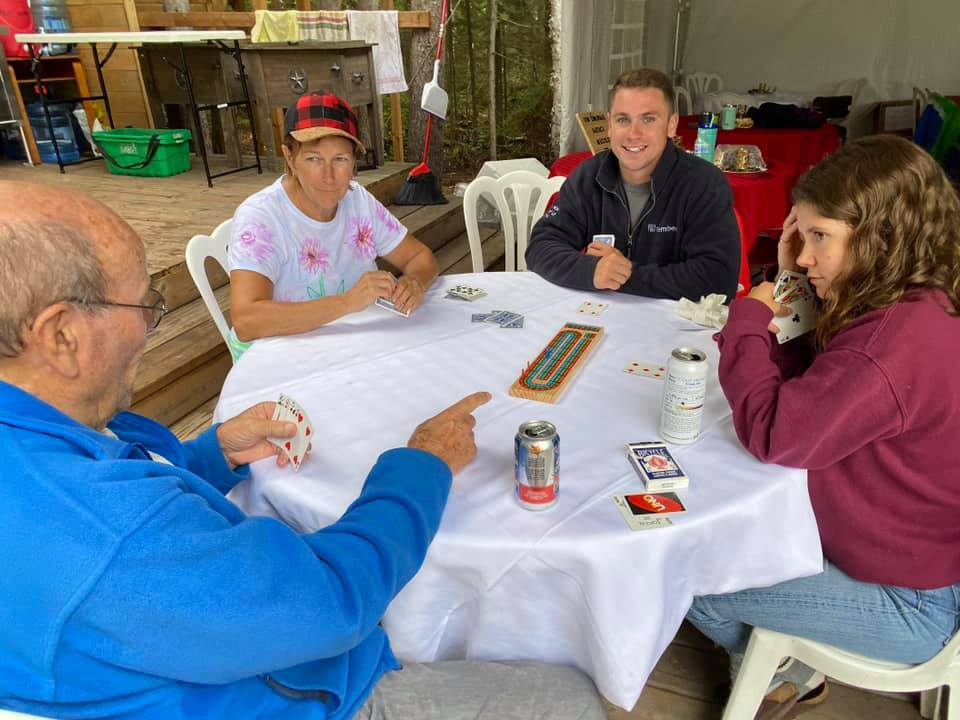 Glamping activity ideas - Playing cards on Farr Island