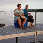 Wellness Drumming activity on Farr Island