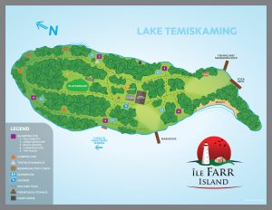 Map to Explore Farr Island to plan your glamping trip