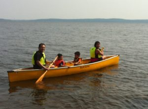 Canoeing to Farr Island
