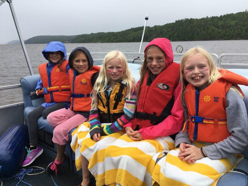 Children enjoying Farr Island