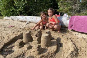 Sand castle on Farr Island