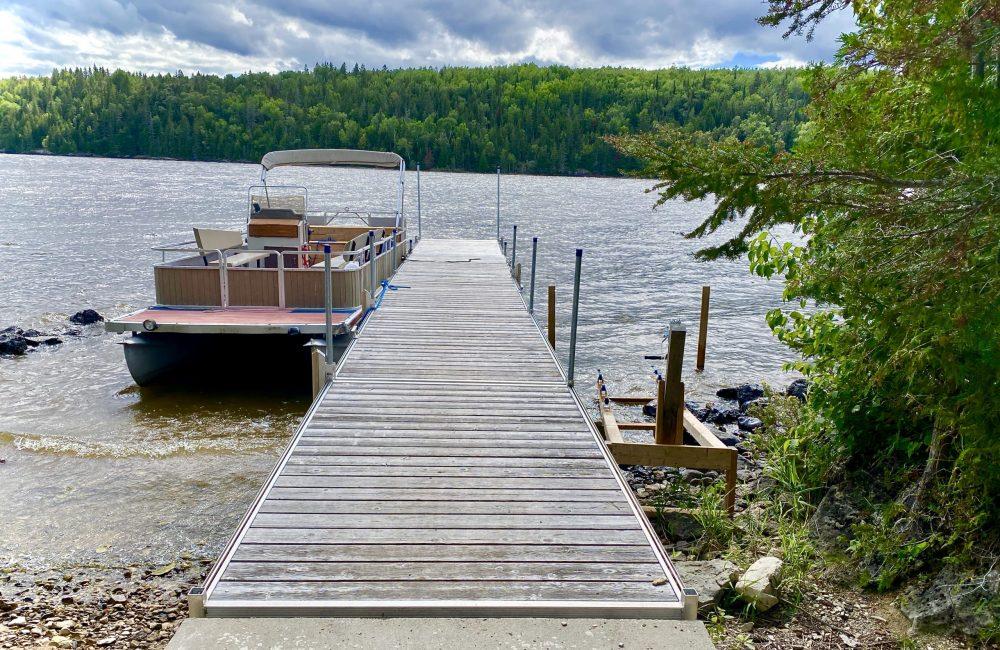 Main dock on Farr Island