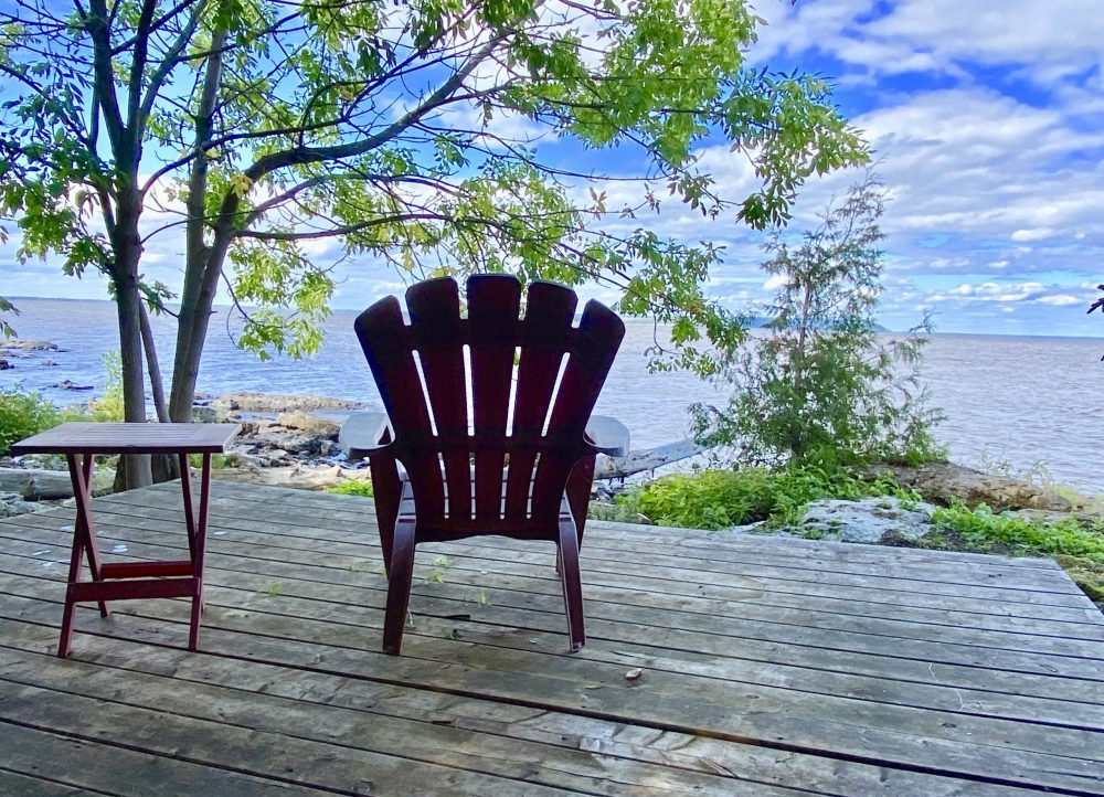 Glamping Reading deck on Farr Island