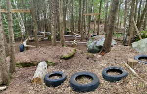 Glamping family fun with children park on Farr Island