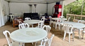 Eating & Chilling Area under the pavilion on Farr Island