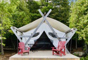 A prospector tent on Farr Island