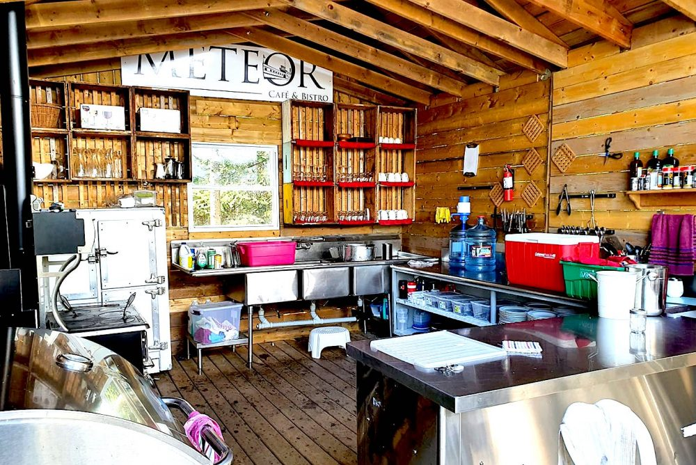 Glamping Kitchen on Farr Island