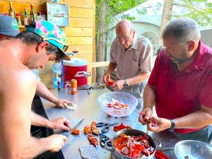 Glamping Lobster 5-star cooking on Farr Island