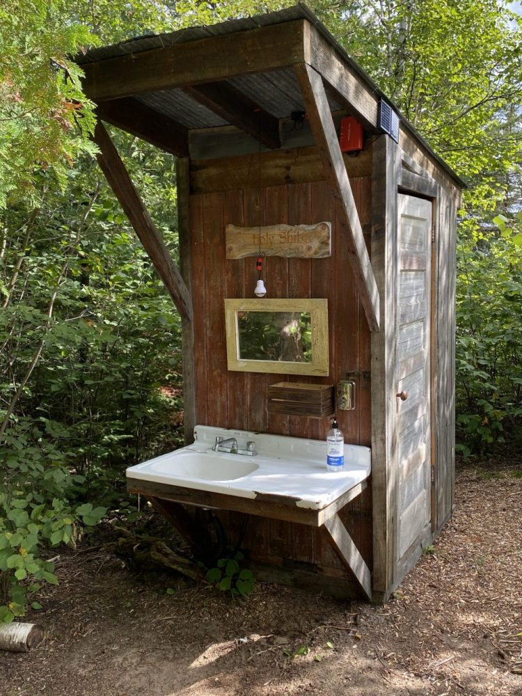 Main glamping outhouse on Farr Island