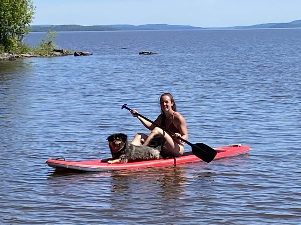 Glamping activity ideas - Paddleboard time on Farr Island